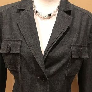Attention Dark Denim Jacket/Blazer
